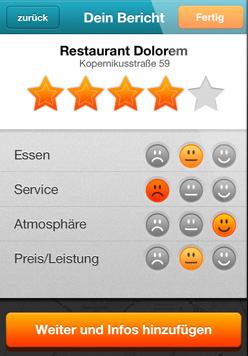 Bewerten - iPhone App Vorschau
