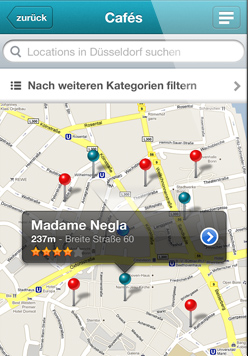 Umgebung - iPhone App Vorschau
